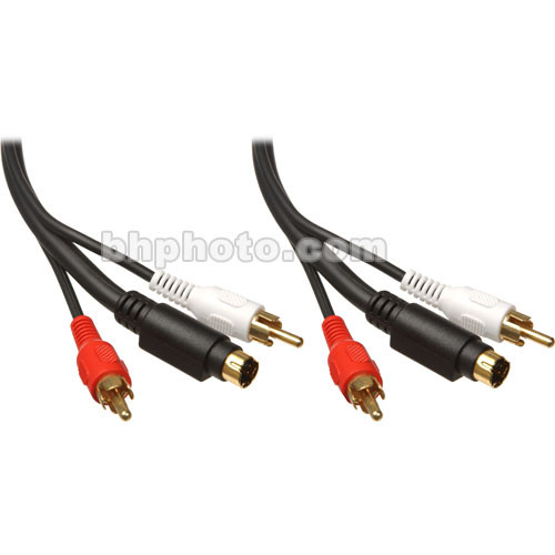 Comprehensive 1 S-Video Male and 2 RCA Male to 1 S-Video Male and 2 RCA Male Cable