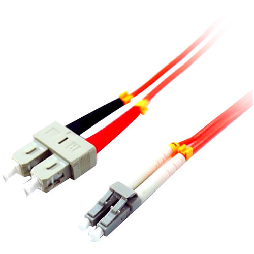 Comprehensive 3.28' (1 m) LC to SC Multimode 0.009' (3mm) Zipcord LSZH Cable