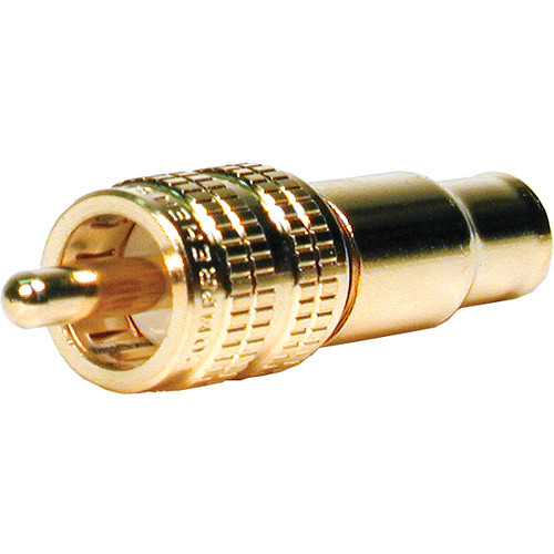 Comprehensive Premium True 75 Ohm RCA Plug, Crimp type for RG-59U