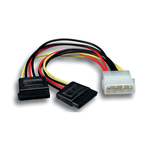 Comprehensive Serial ATA Power Adapter 5.25 Male to SATA Power x2 Cable