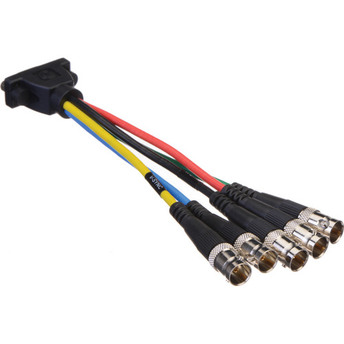 "Comprehensive HR Pro Series Low-Profile VGA HD 15 Jack to 5 BNC Jacks Cable (6"")"