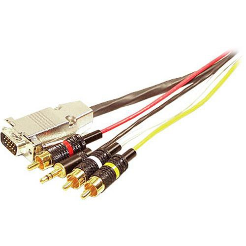 Comprehensive VGA Male, 3 RCA, & 1 Stereo Mini Plug on Each End - 25' (7.62m)