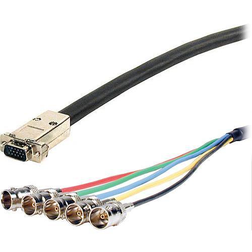 Comprehensive 50' (45.7 m) UHR HD15 Plug to 5BNC Jack VGA Cable