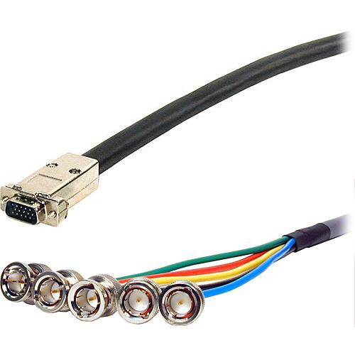Comprehensive 250' (76.2 m) UHR HD15 Plug to 5BNC VGA Cable