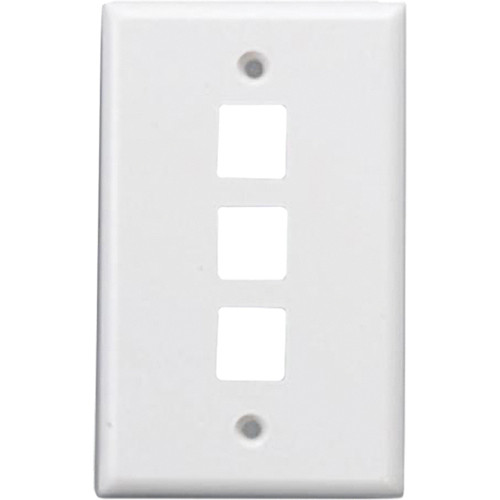 Comprehensive WP-FP3WHT Keystone 3 Port Faceplate (White)