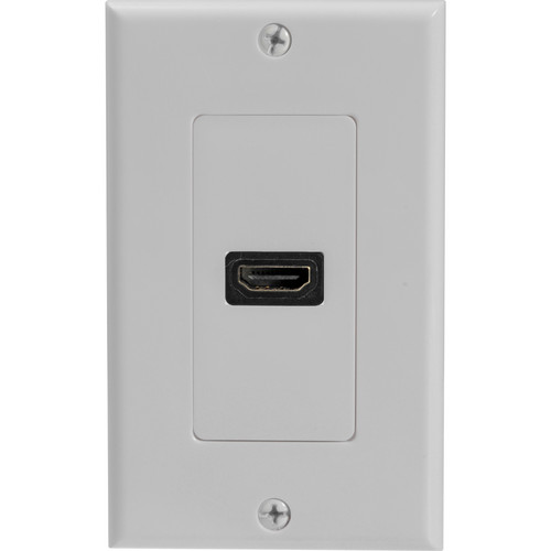 Comprehensive HDMI Wall Plate - 1 Port