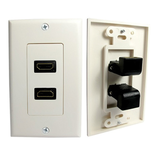 Comprehensive HDMI Wall Plate 2 Port 90 Degree