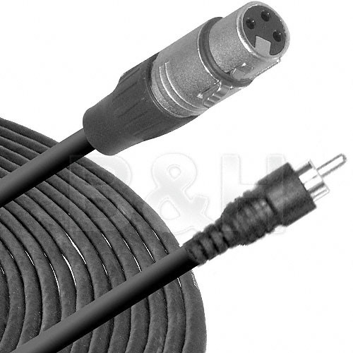 Comprehensive EXF 3-Pin XLR Female to RCA Male Cable - 25'