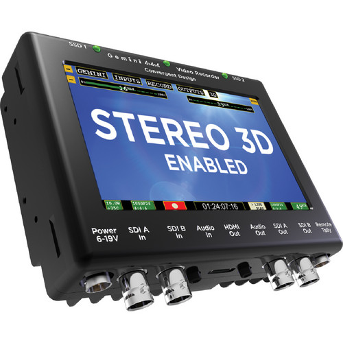 Convergent Design 3D Firmware Upgrade for Gemini 4:4:4 Recorder