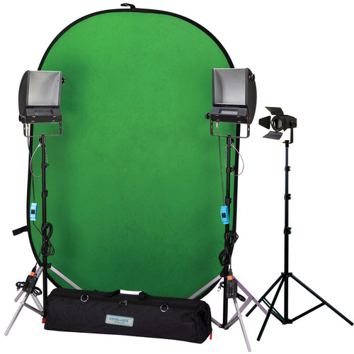 Cool-Lux Hollywood Chroma Key Blue/Green Screen Kit II