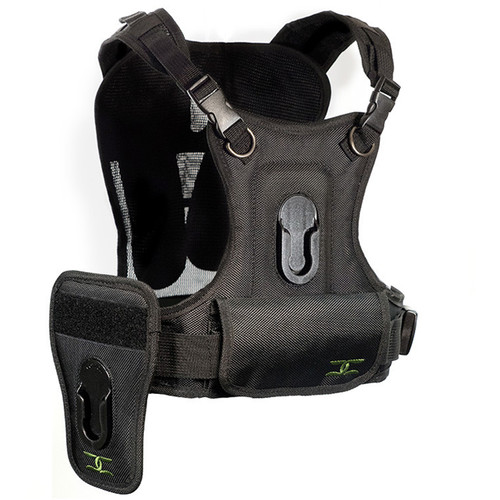 Cotton Carrier Camera Vest with Side Holster (Black)