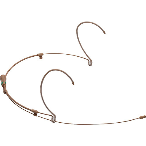 Countryman H6 Directional Headset with Detachable Cable and Pigtail Leads for Wireless Transmitters (W6 Band, Tan)