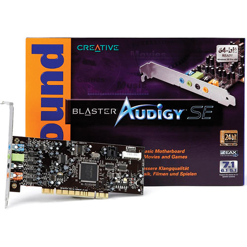 Creative Labs Soundblaster Audigy SE 4L PCI Sound Card