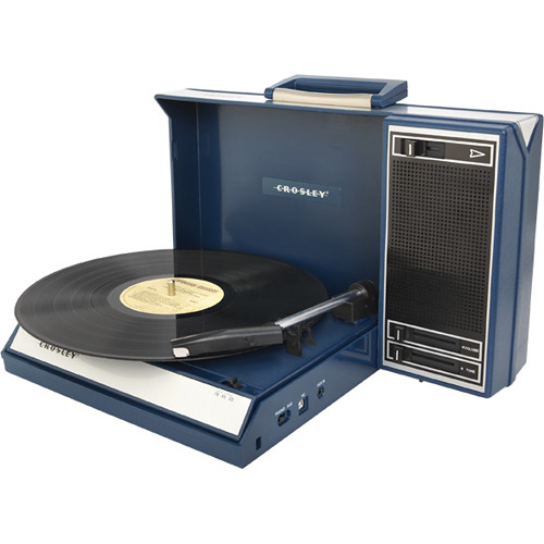 Crosley Radio CR6016A Spinnerette Portable USB Turntable (Blue)