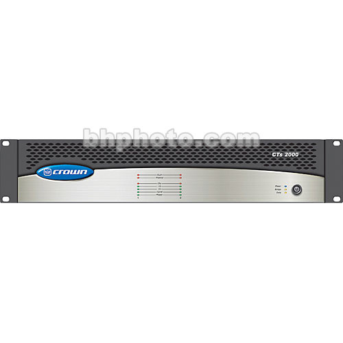 Crown Audio CTs-2000 - Two-Channel Power Amplifier -  1000W @ 8 Ohms