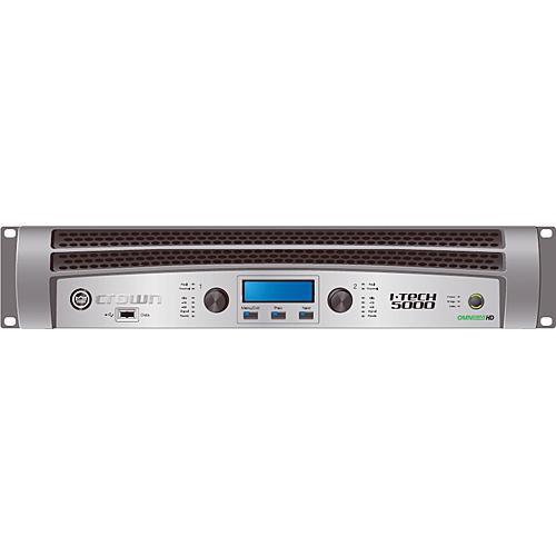 Crown Audio I-T5000HD Rackmount Stereo Power Amplifier (1250W/Channel @ 8 Ohms)