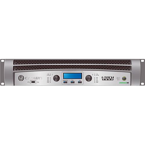 Crown Audio I-T9000HD Rackmount Stereo Power Amplifier (1500W/Channel @ 8 Ohms)