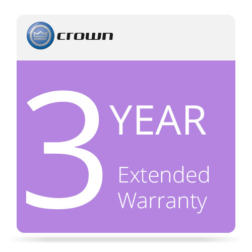 Crown Audio 3-Year Extended Warranty for Amplifiers