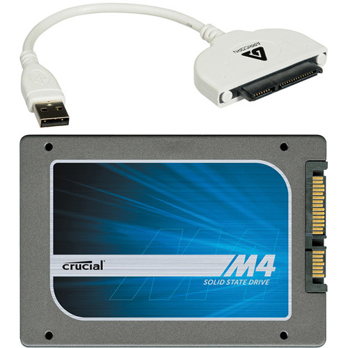 "Crucial 256GB 2.5"" Internal Solid State Drive with Data Transfer Cable Kit"