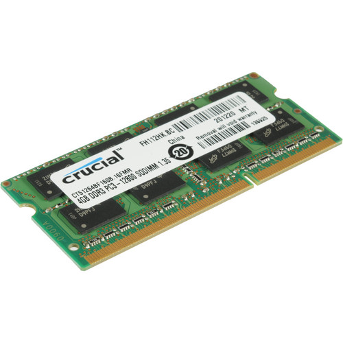 Crucial 8GB (2x4GB) SO-DIMM DDR3 PC3-12800 Memory for Notebooks Kit