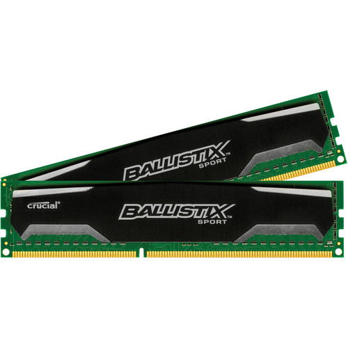 Crucial 8GB (2 x 4GB) Ballistix Sport Series 240-Pin DIMM DDR3 PC3-10600 Memory Module Kit
