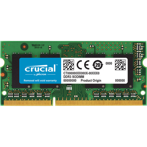 Crucial CT102464BF160B 16GB (2 x 8GB) 204-pin SODIMM, DDR3 PC3-12800 Memory Module Kit