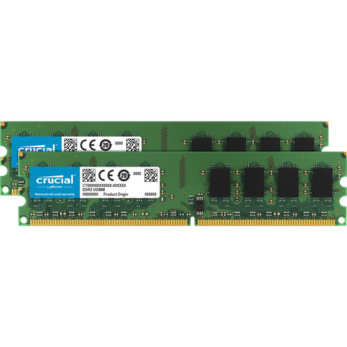 Crucial 2GB (2x1GB) DIMM Desktop Memory Upgrade Kit