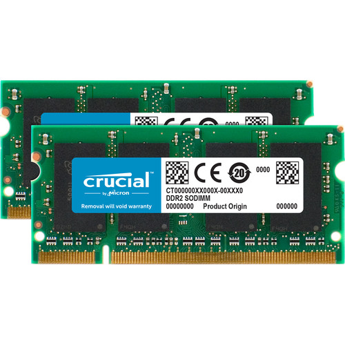 Crucial 2GB (2x1GB) SO-DIMM Memory Upgrade Kit for Notebook