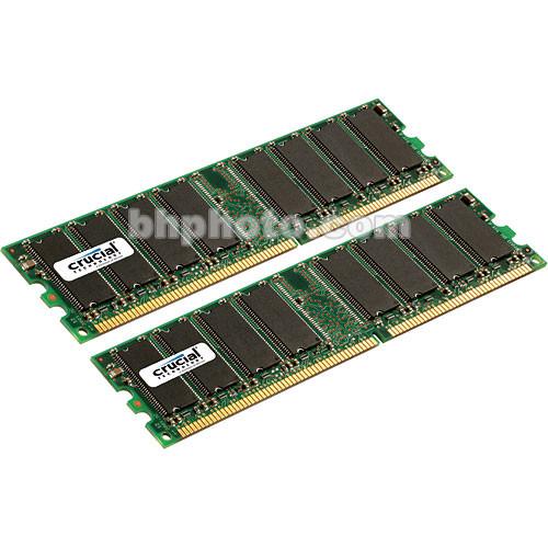 Crucial 2GB (2x1GB) DIMM Desktop Memory Upgrade Kit