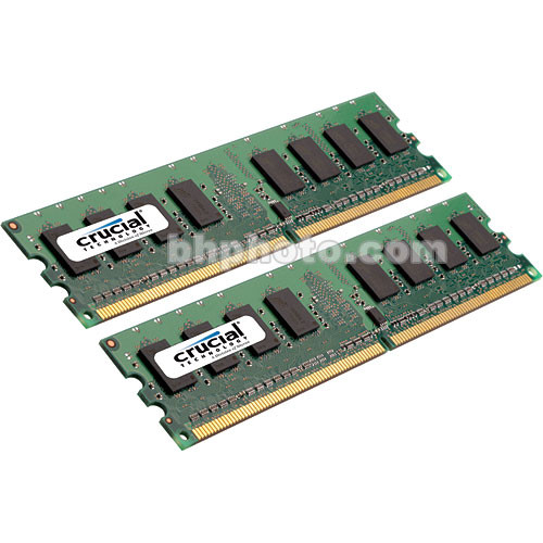 Crucial 2GB (2x1GB) FB-DIMM Desktop Memory Upgrade Kit