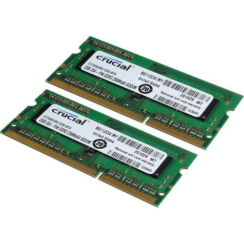Crucial 4GB (2x2GB) SODIMM Laptop Memory Upgrade Kit