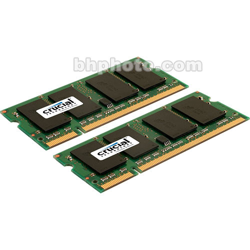 Crucial 1GB (2x512MB) SO-DIMM Memory Upgrade Kit for Notebook
