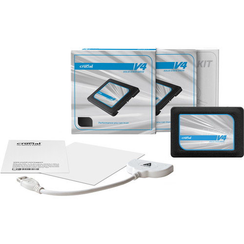"Crucial 128GB v4 SATA 3Gb/s 2.5"" SSD with Data Transfer Kit"