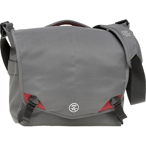 Crumpler 8 Million Dollar Home Bag (Gray with Red Accents)