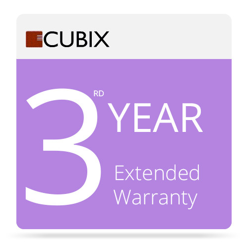 Cubix 3rd Year Extended Warranty for Rackmount Series II
