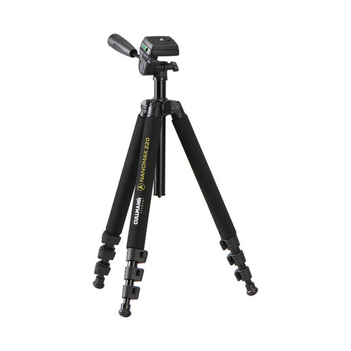 Cullmann Nanomax 220 Aluminum Tripod w/ 3-Way Head - Supports 5.5 lbs (2.5kg)