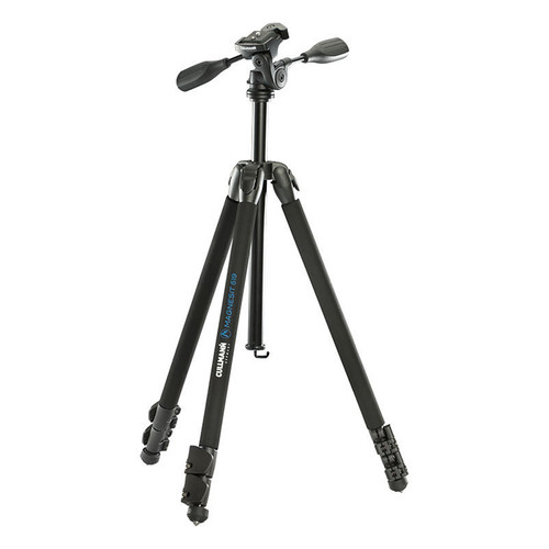 Cullmann Magnesit 519 Aluminum Tripod with 3-Way Head - Supports 8.8 lbs (4kg)