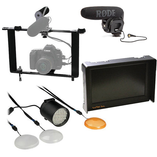 Custom Brackets HDV PRO Rig/Light/Microphone/Monitor Kit