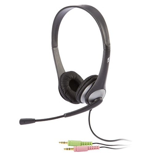 Cyber Acoustics AC-201 Stereo Headset and Boom Mic