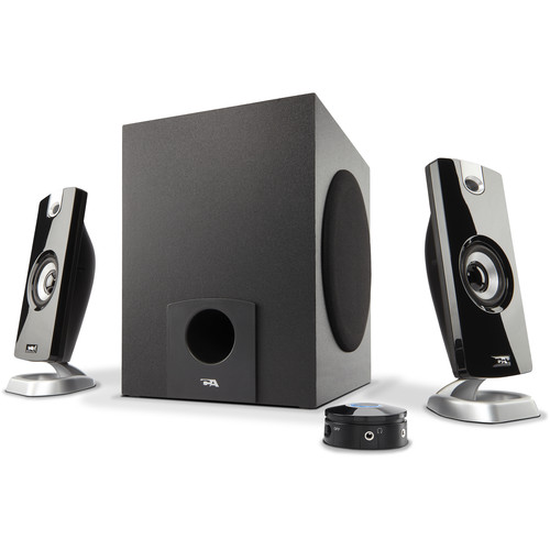 Cyber Acoustics CA-3090 3-Piece Flat Panel Design Subwoofer & Satellite Speaker System