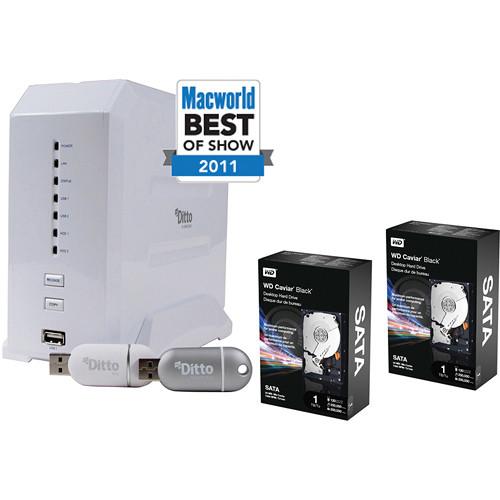 Dane-Elec 2TB (2x1TB) myDitto Home Network Key and Server Kit