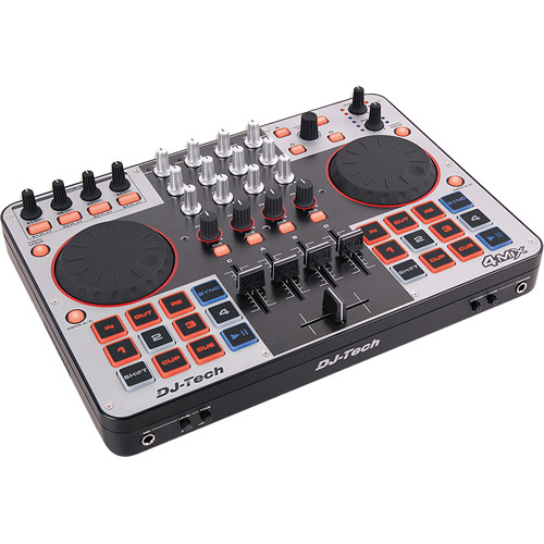 DJ-Tech 4MIX 4-Channel Controller with Audio Interface Built-in