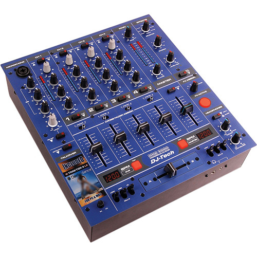 DJ-Tech DDM-3000R Professional DJ Mixer (Blue)