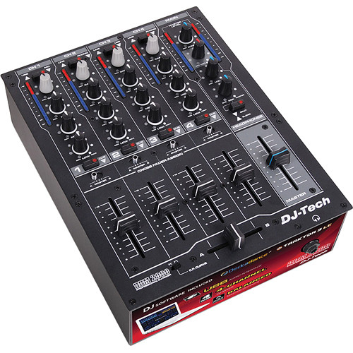 DJ-Tech DDM 2000 USB Professional 4-Channel USB DJ Mixer
