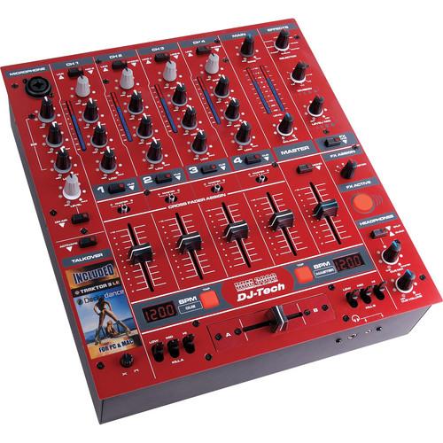 DJ-Tech DDM-3000R Professional DJ Mixer (Red)