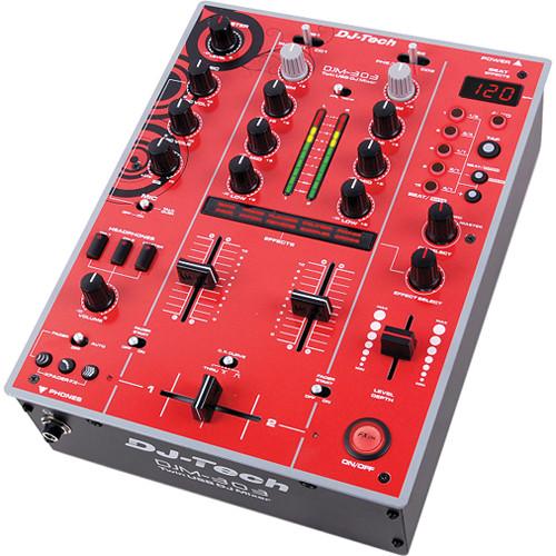 DJ-Tech DJM-303 Twin USB DJ Mixer (Red)