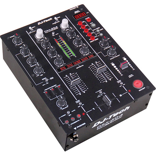 DJ-Tech DJM-303 Twin USB DJ Mixer (Black)
