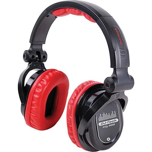 DJ-Tech eDJ-500 Professional Headphones (Red)