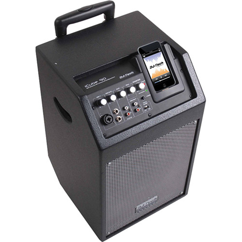 DJ-Tech iCube 90 Powered PA Speaker for iPod