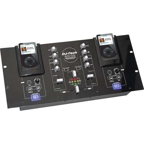 DJ-Tech iMX-101 DJ Mixer with Dual iPod Dock